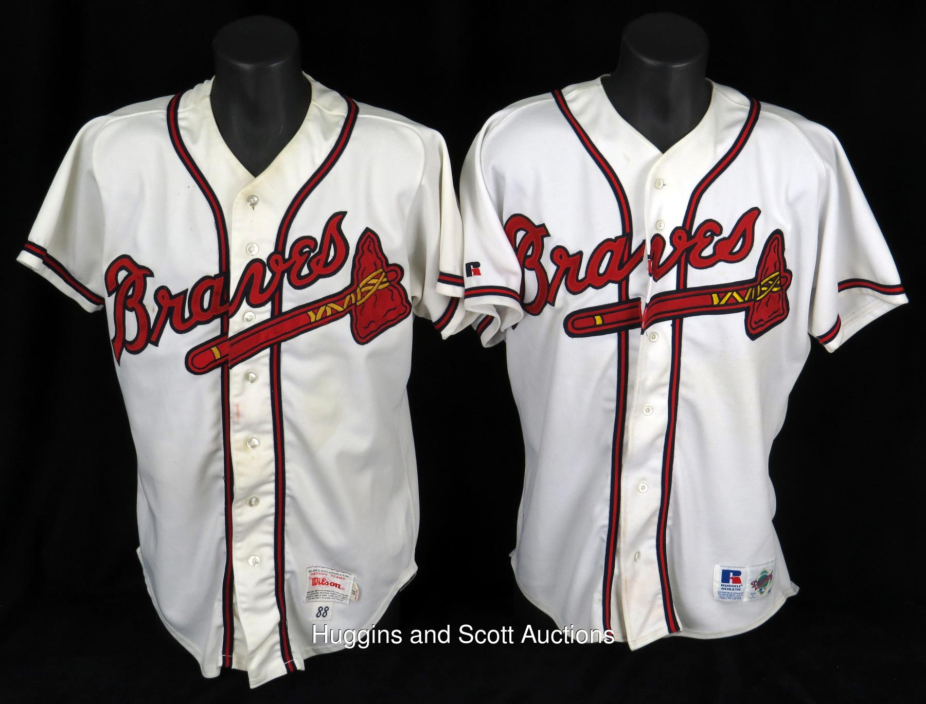purchase cheap bb13f fe235 1970s-2000s Atlanta Braves Game-Used Jersey Lot of (7)
